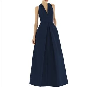 Alfred Sung Dupioni A-Line Gown